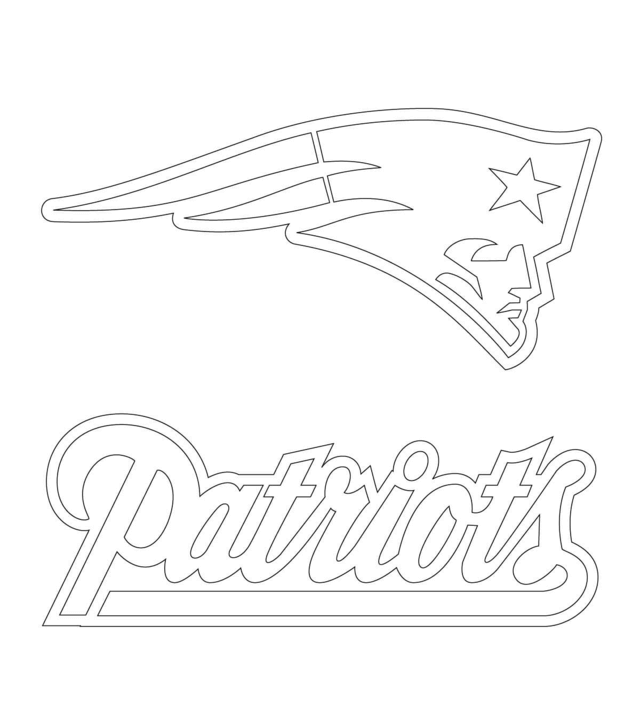 new england patriots coloring pages logo