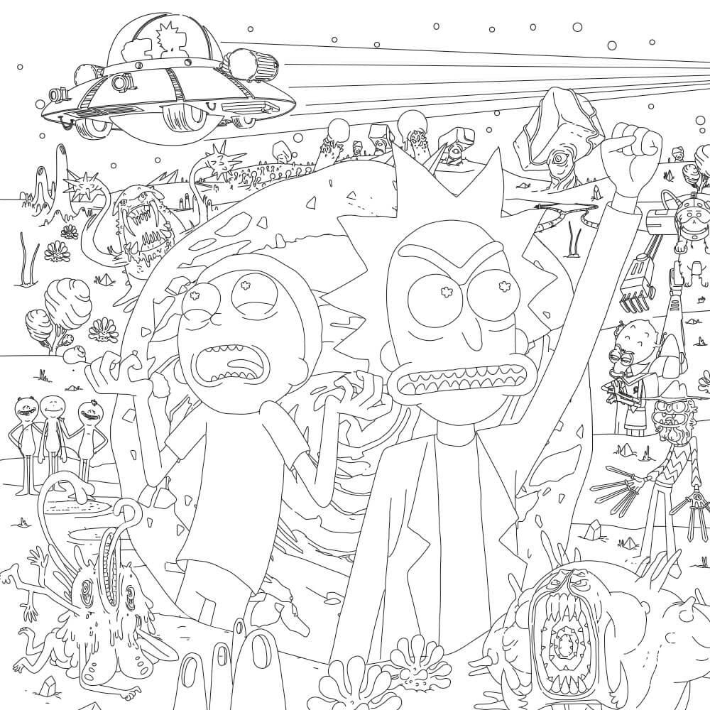 Printable Rick And Morty Coloring