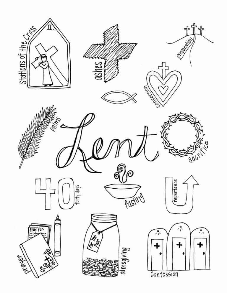 40 Days Of Lent Coloring Pages
