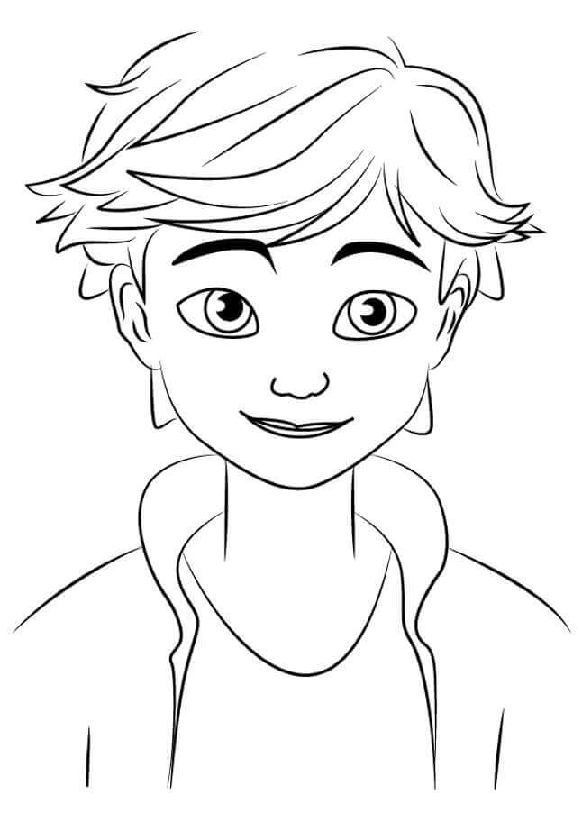 Adrien Agreste From Miraculous Ladybug And Cat Noir Coloring Pages