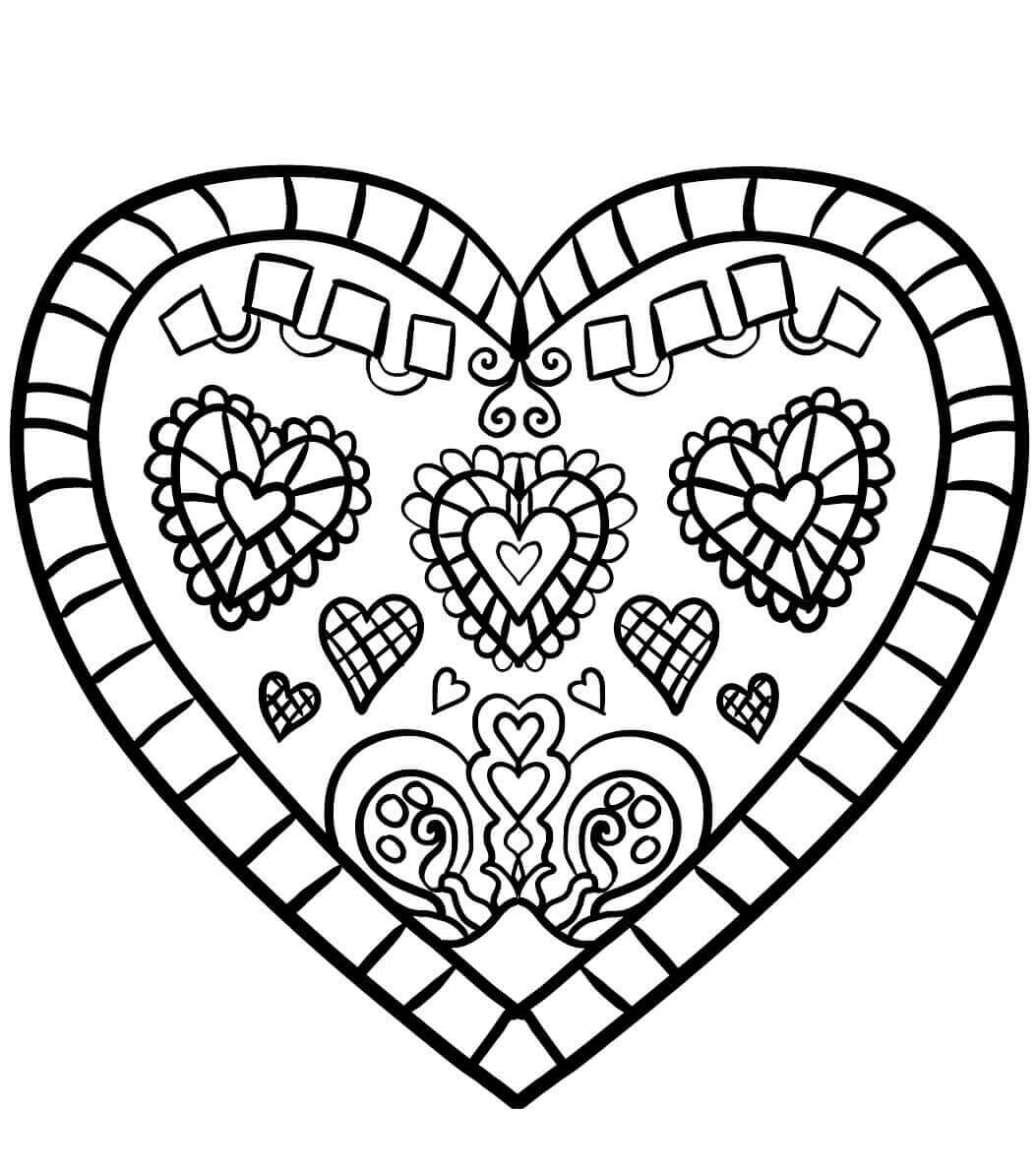 Beautiful Heart Coloring Page