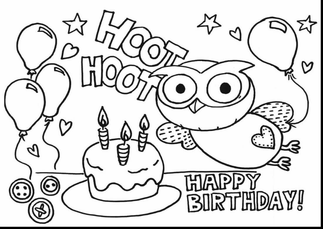 birthday party coloring pages free - Birthday Coloring Sheets