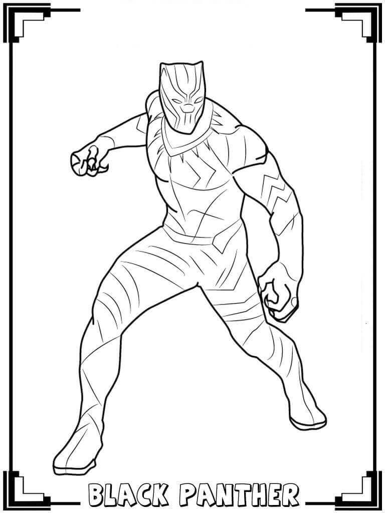Free Printable Black Panther Coloring