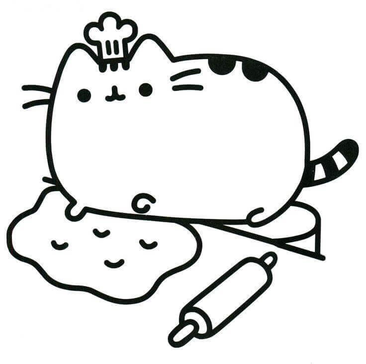 20 Free Pusheen Coloring Pages