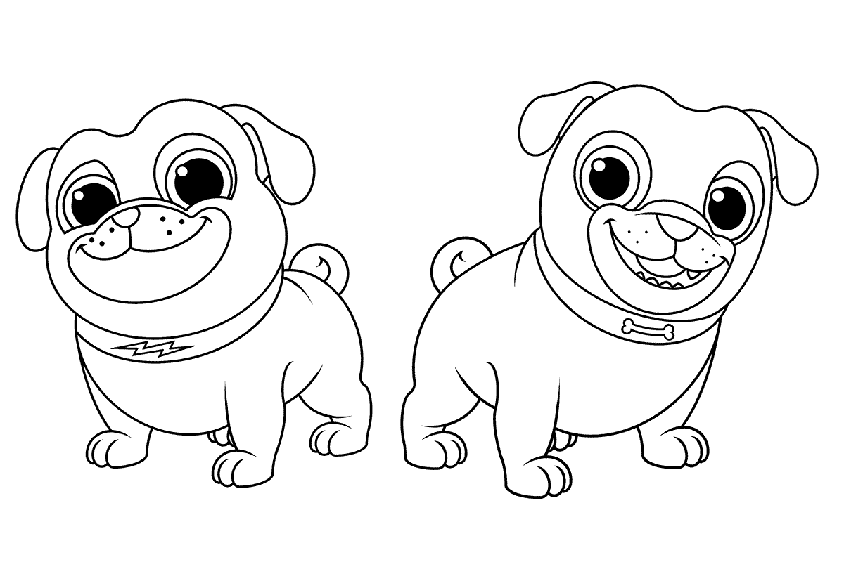Coloring Pages Of Puppy Dog Pals