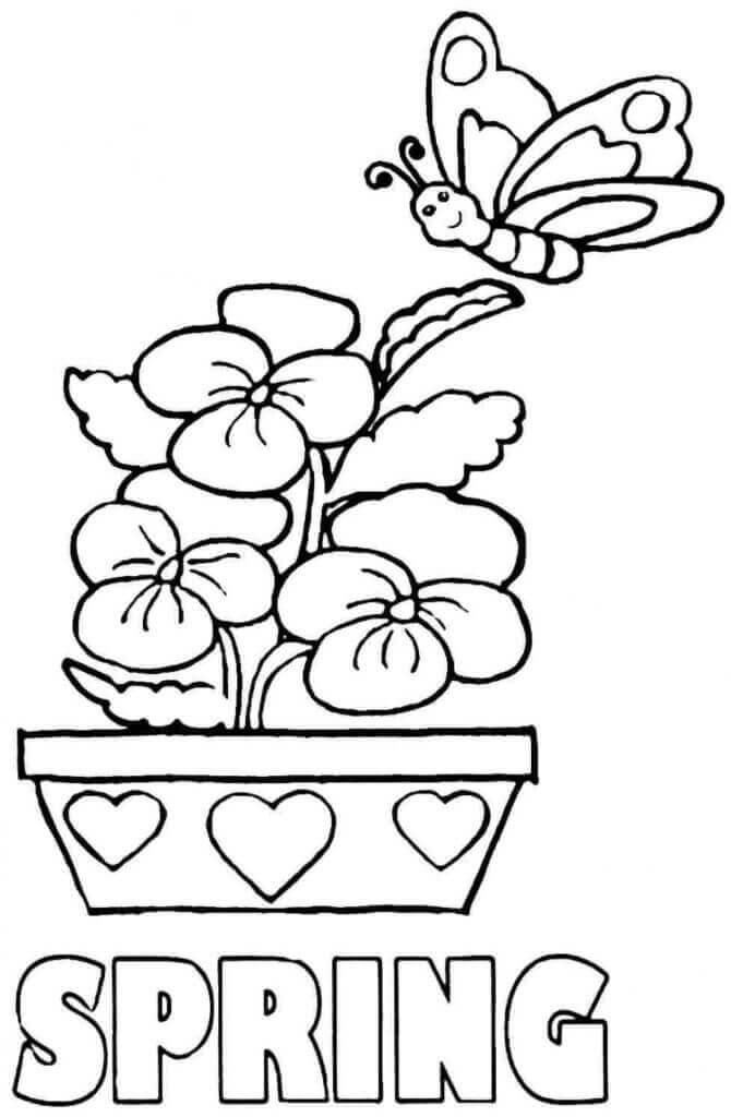 Coloring Sheets Of Spring