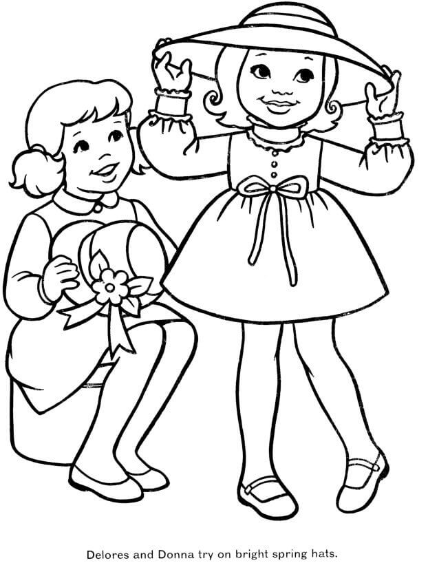 Colouring Pages Of Spring Season