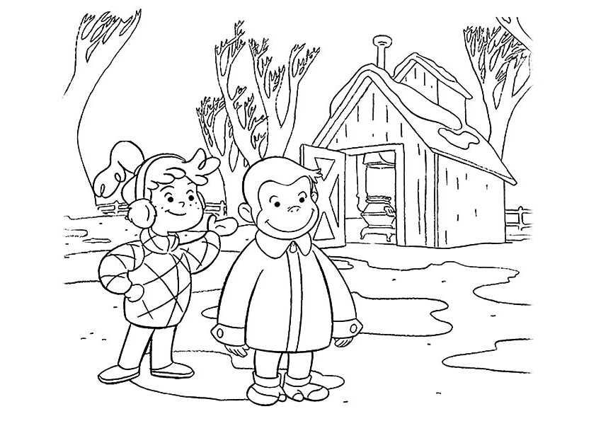 Curious George Coloring Page To Print