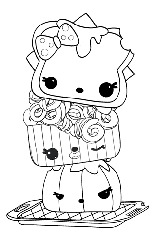 Cute Noms Coloring Pages