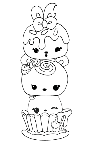 Cute Nums Coloring Pages