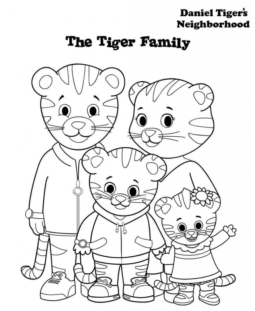 Daniel Tiger Family Coloring Pages