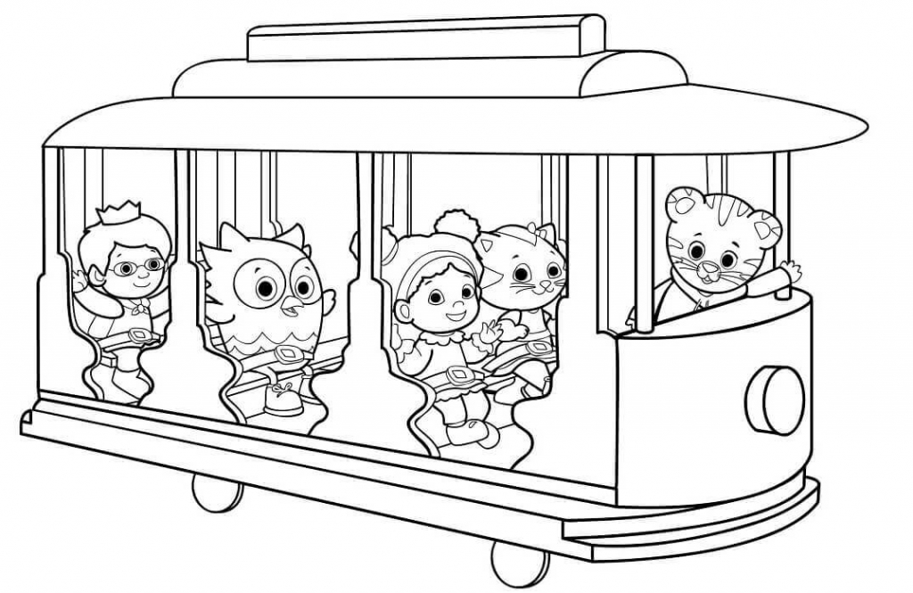 daniel tigers neighborhood coloring pages - Daniel Tiger Coloring Pages