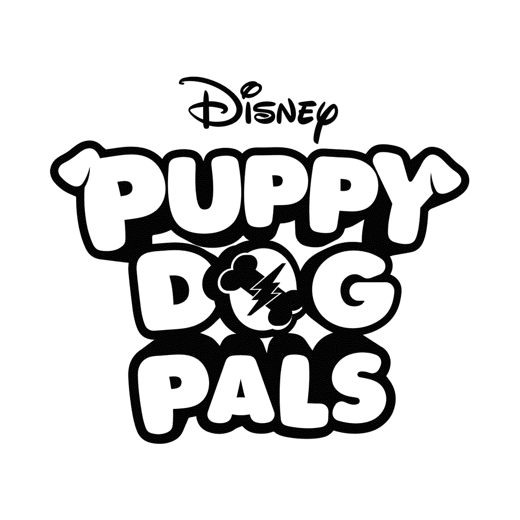Disney Puppy Dog Pals Logo Coloring Page
