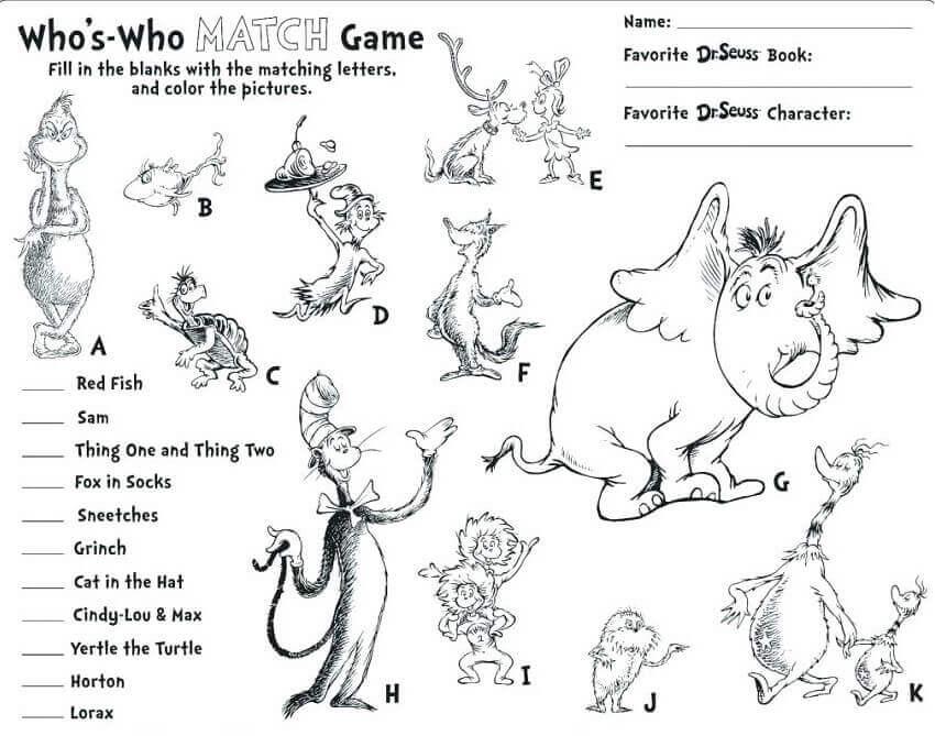 Lujo Libro De Colores Dr Seuss Inspiración - Dibujos Para Colorear ...