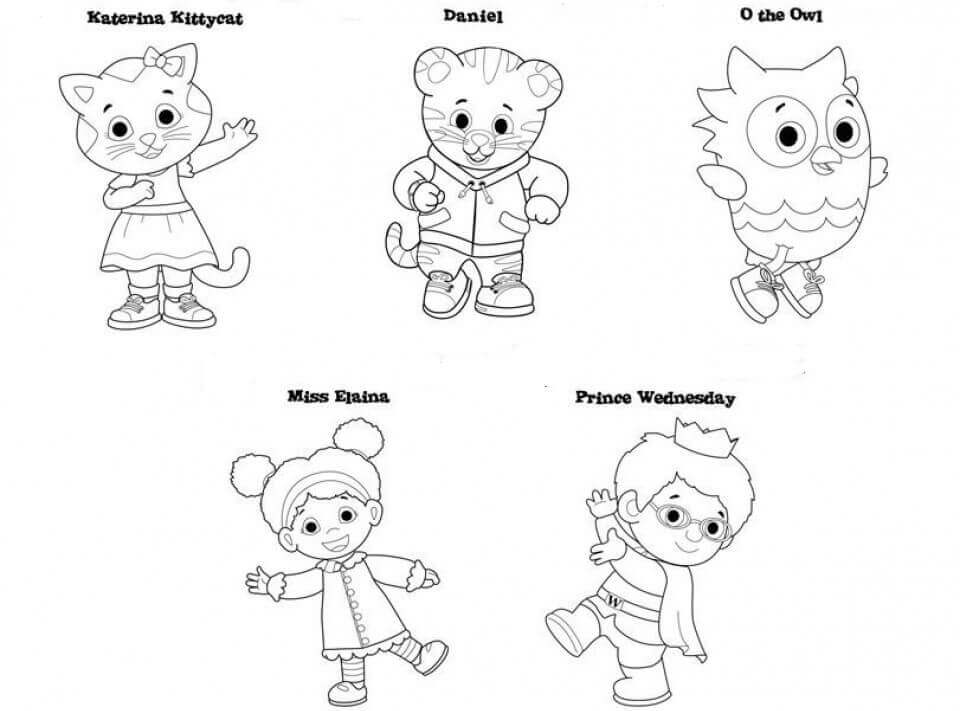 free daniel tiger coloring pages - Daniel Tiger Coloring Pages