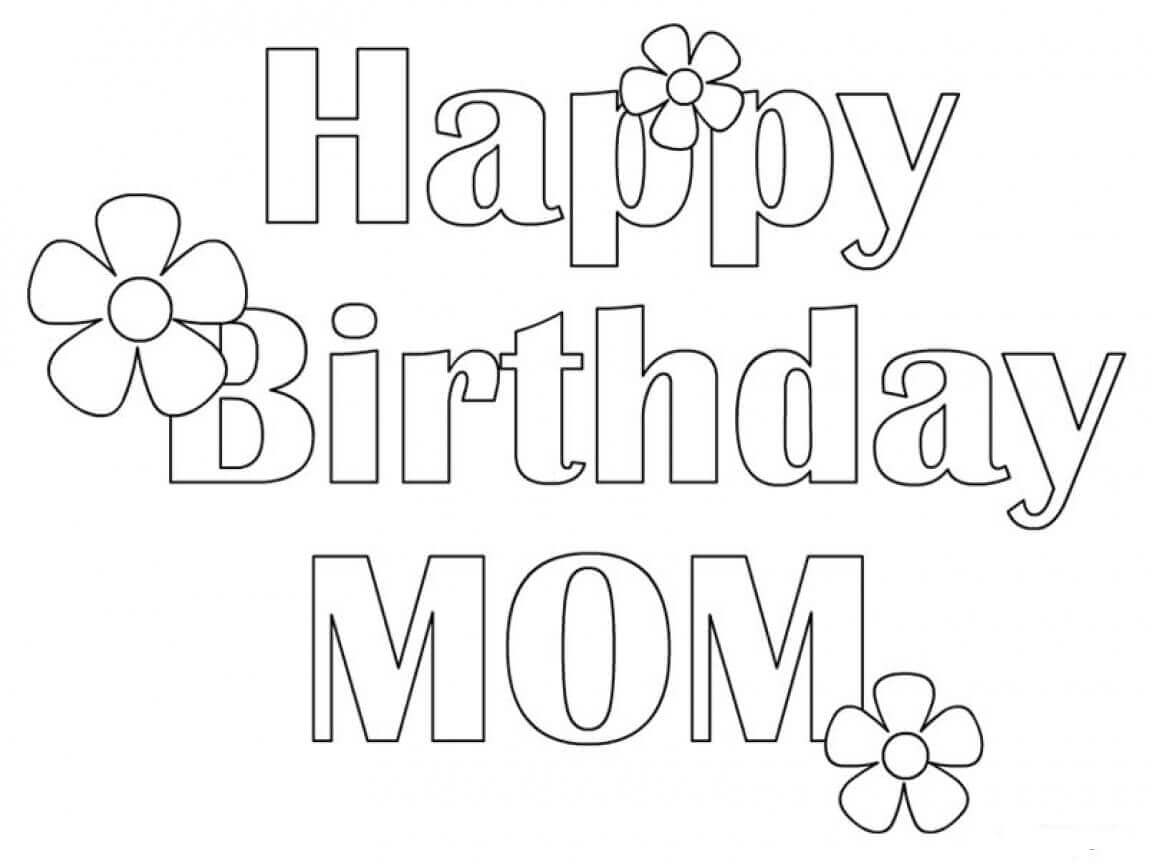 happy birthday mommy coloring pages 25 free printable happy birthday coloring pages