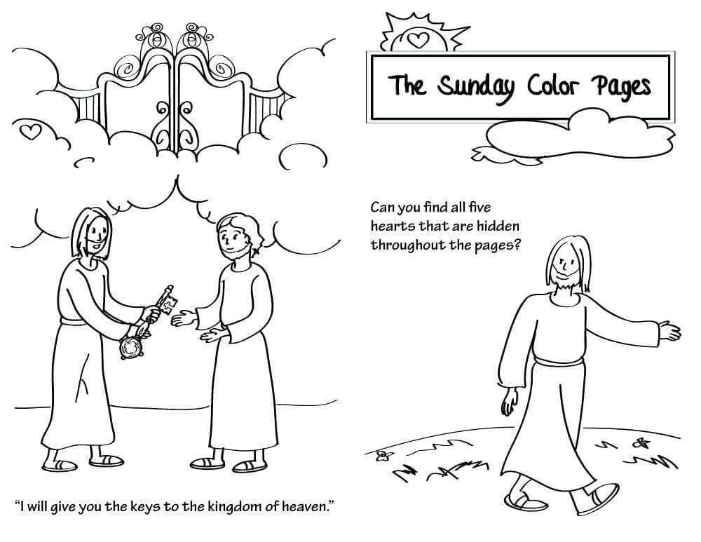 Free Lent Coloring Sheets For Kids