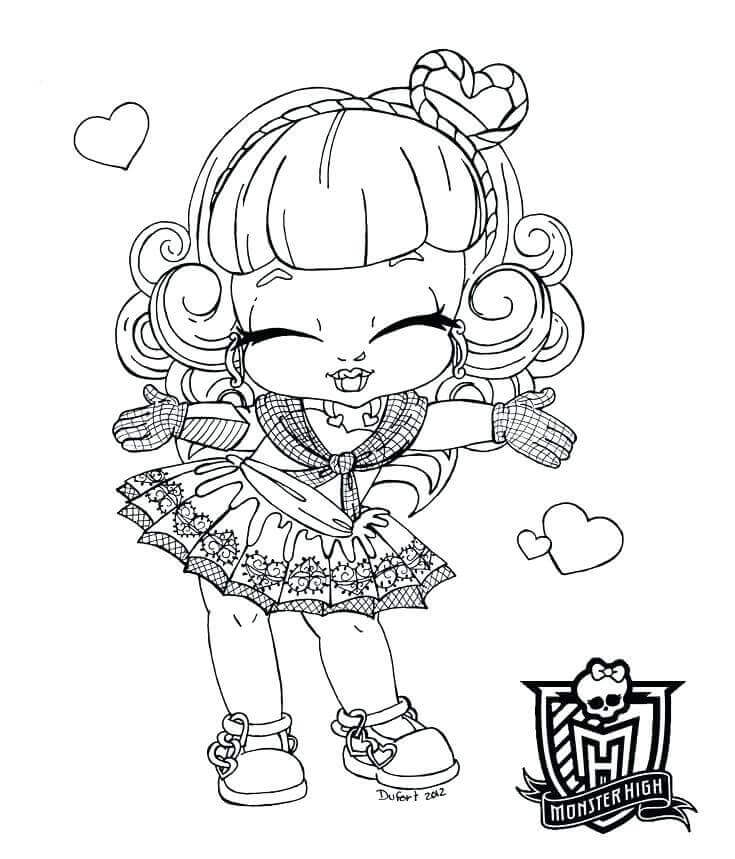 Free Monster High Babies Coloring Pages
