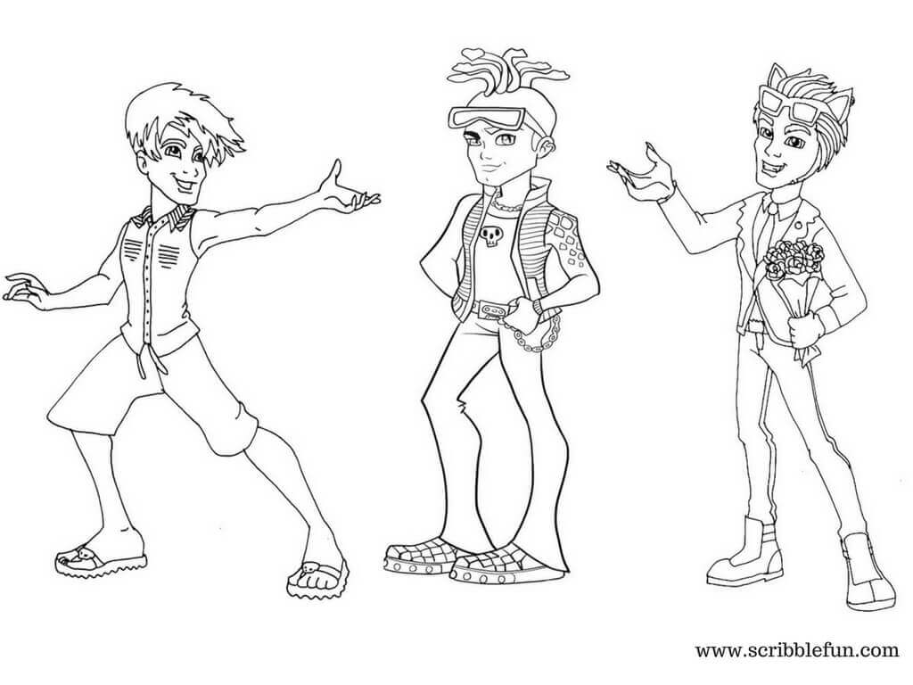 Free Monster High Boys Coloring Pages