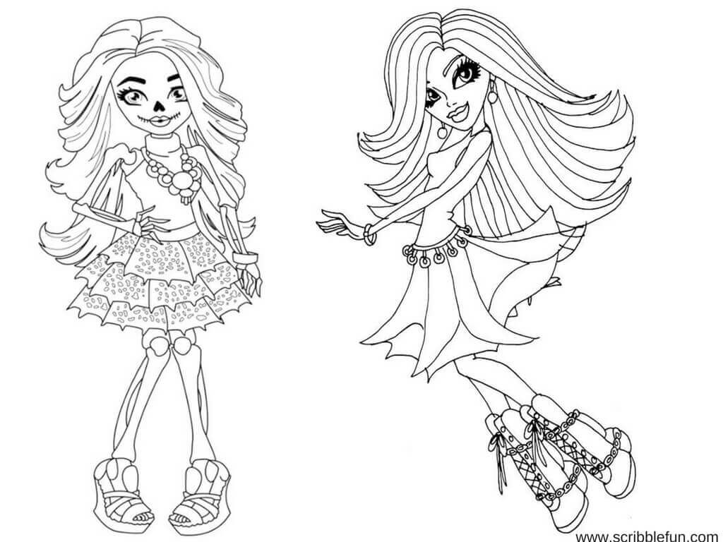 Free Monster High Colouring Pages