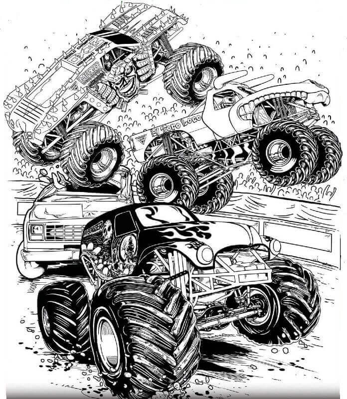 Free monster jam coloring page