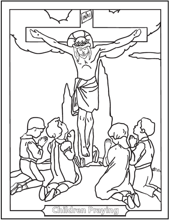 jesus coloring pages catholic church - photo#50