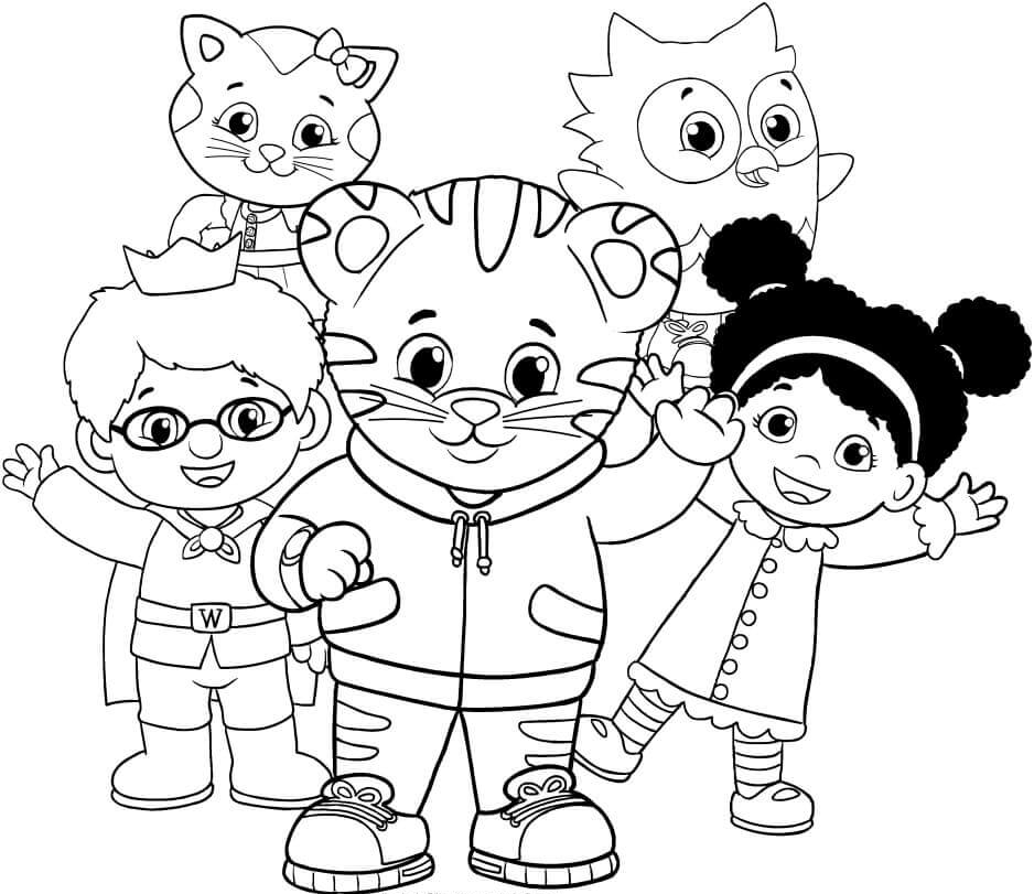 Daniel Tiger Coloring Pages