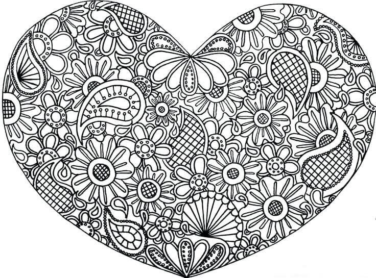 Free Printable 4th of July Coloring Pages | Heart coloring pages ... | 545x736
