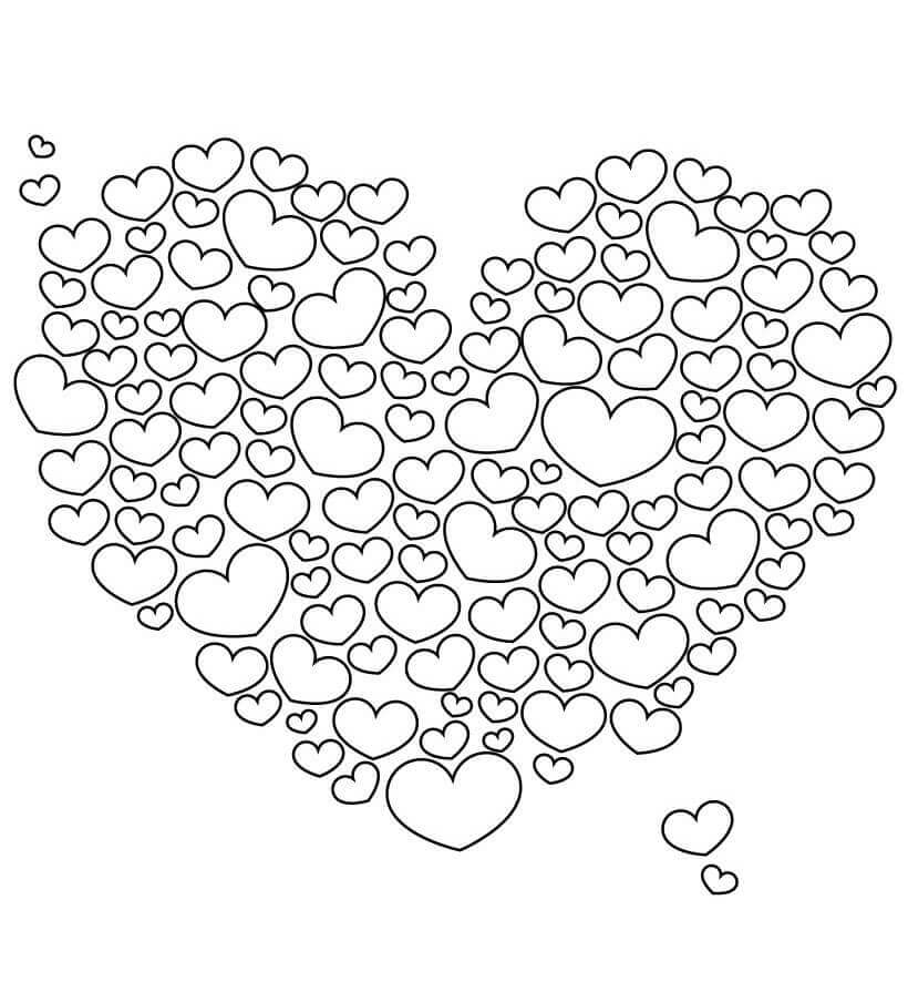 Free Printable Hearts Coloring Pages