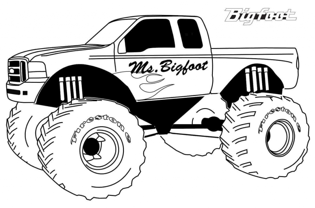 Free Printable Monster Jam Coloring Pages Bigfoot Monster Truck