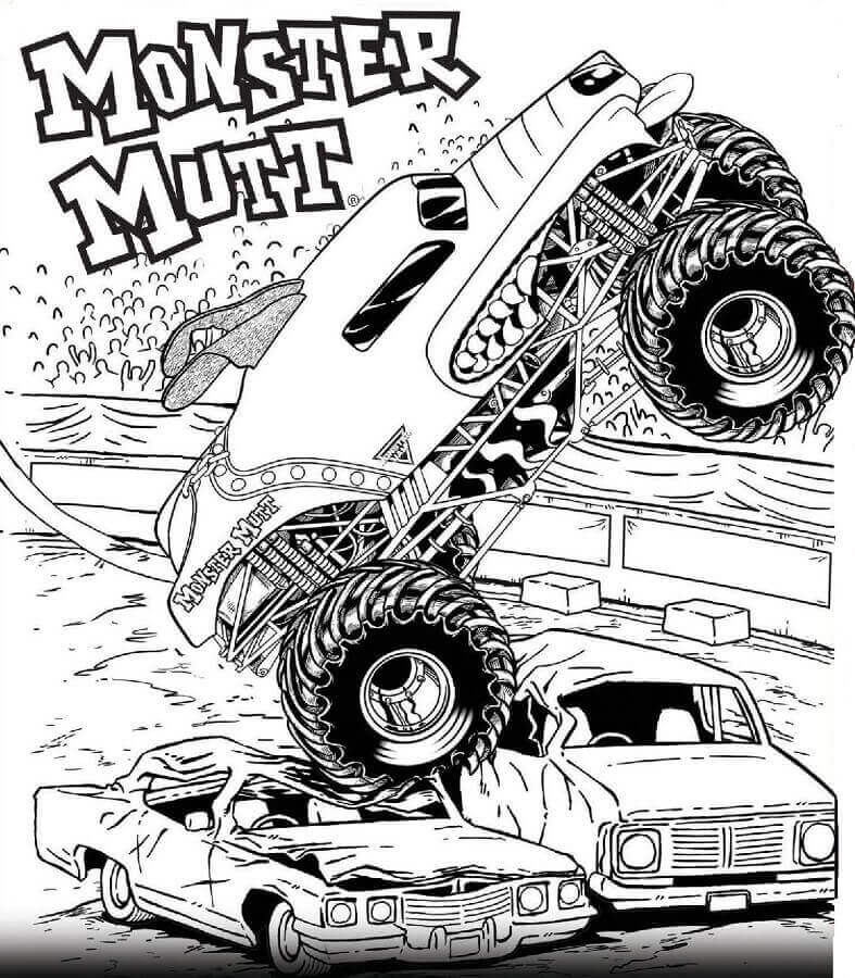 This is a graphic of Luscious Monster Truck Printable Coloring Pages