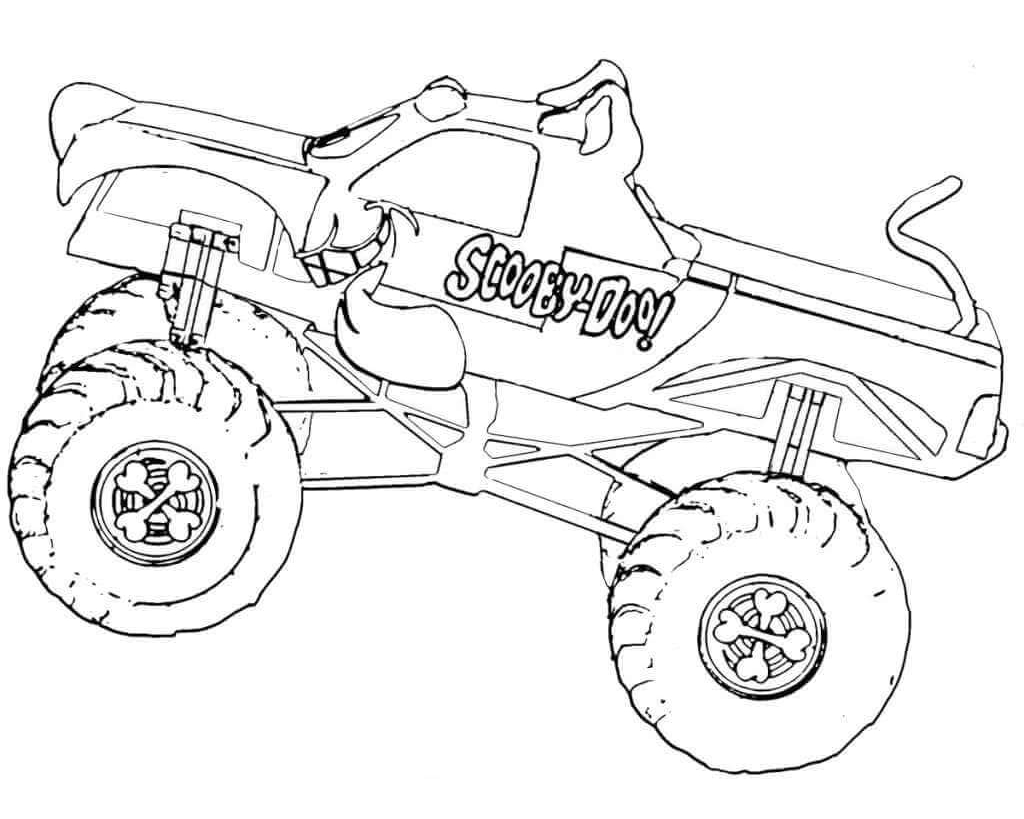 free printable monster jam coloring pages scooby doo monster truck