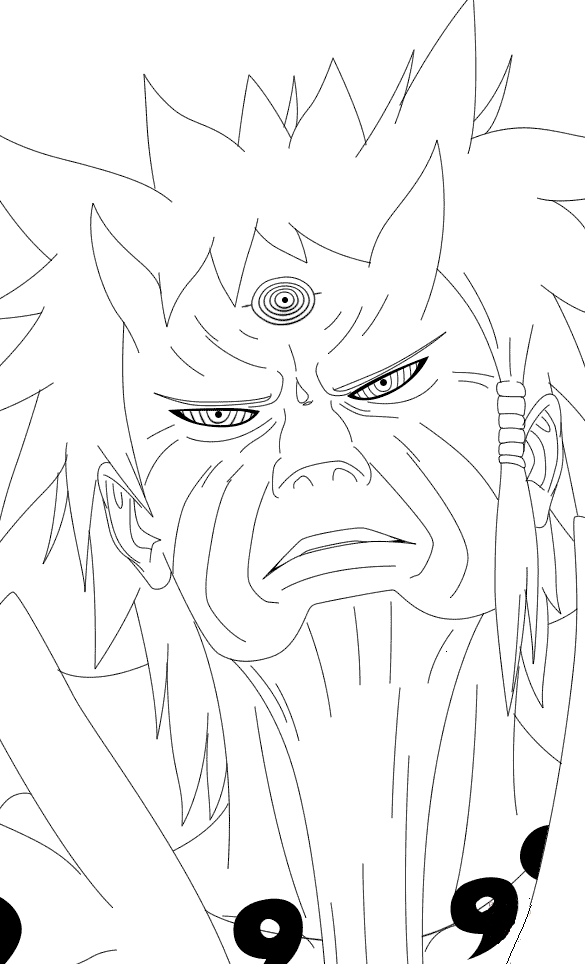 Free Printable Naruto Coloring Pages Rikudou Sennin