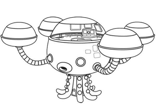 Free Printable Octonauts Coloring Pages Octopod