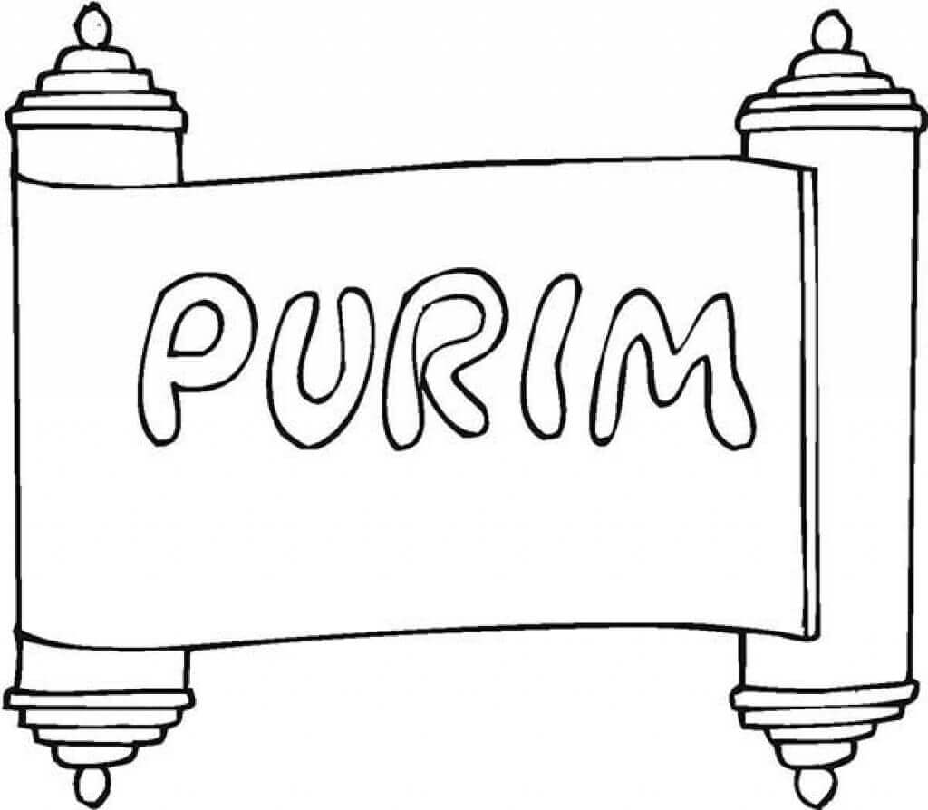 Free Printable Purim Coloring Pages Marelli Scroll