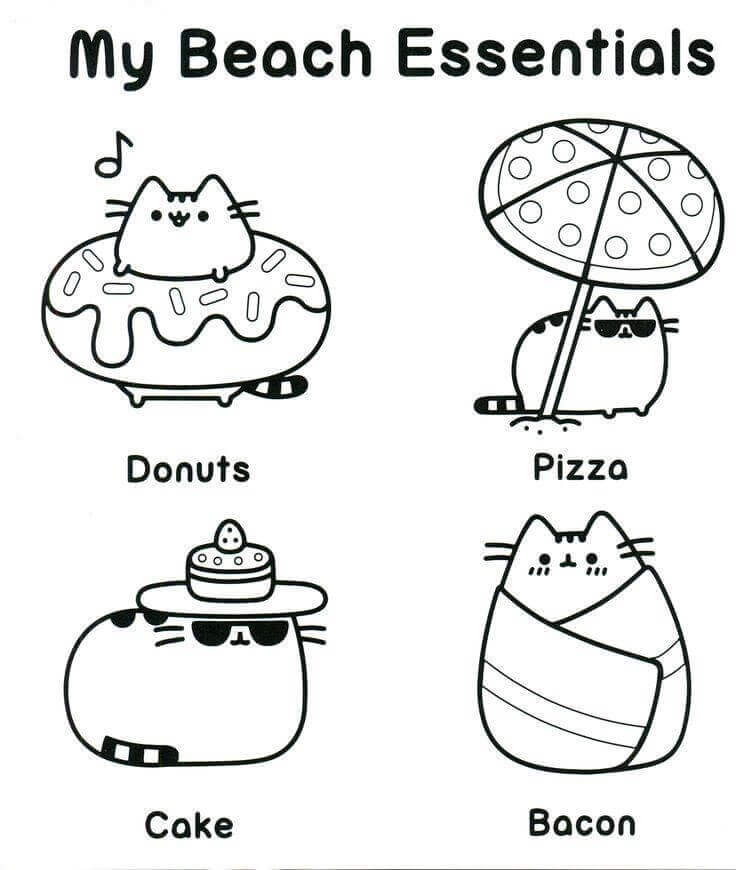Free Printable Pusheen Coloring Pages