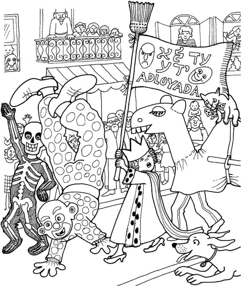 Free Purim Coloring Pages