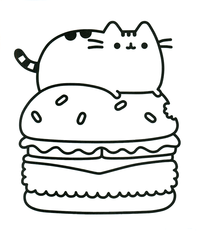 free pusheen coloring pages printable - Colour Pages Printable