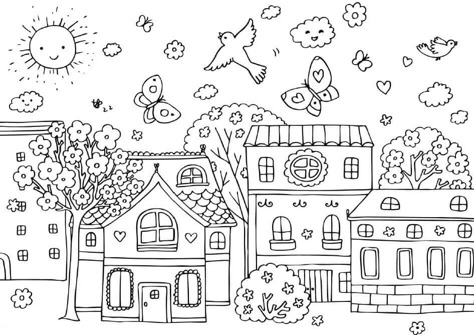 Free Spring Coloring Pages To Print