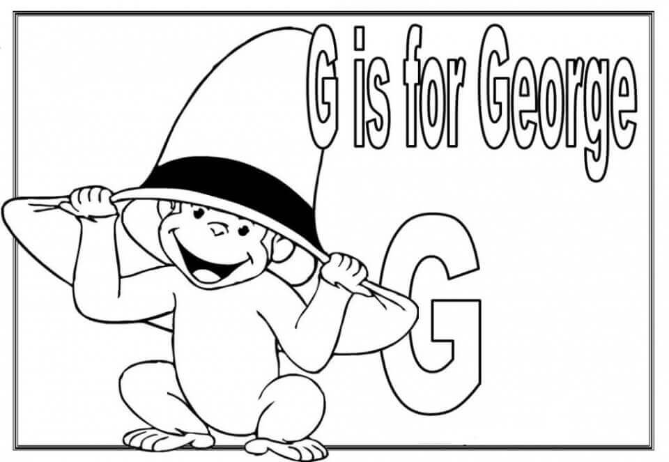G Is For George Curious George Coloring Pages