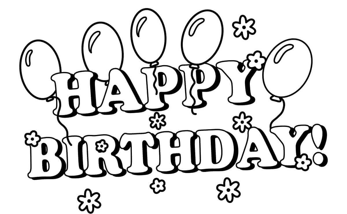 happy birthday coloring pages - Birthday Coloring Sheets