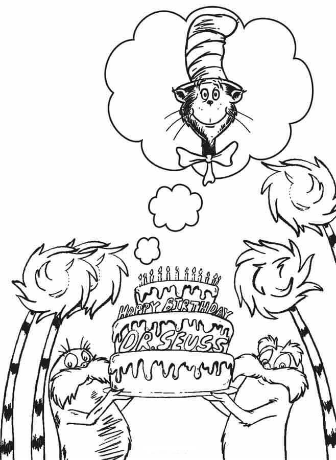 Happy Dr Seuss Day Coloring Pages Free