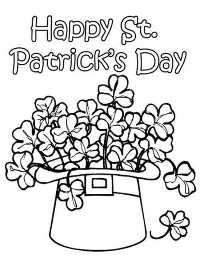 Happy St Patricks Day Coloring Sheets