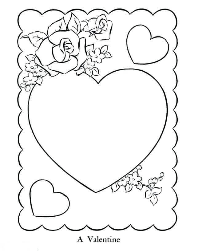 Happy Valentines Day Heart Coloring Pages