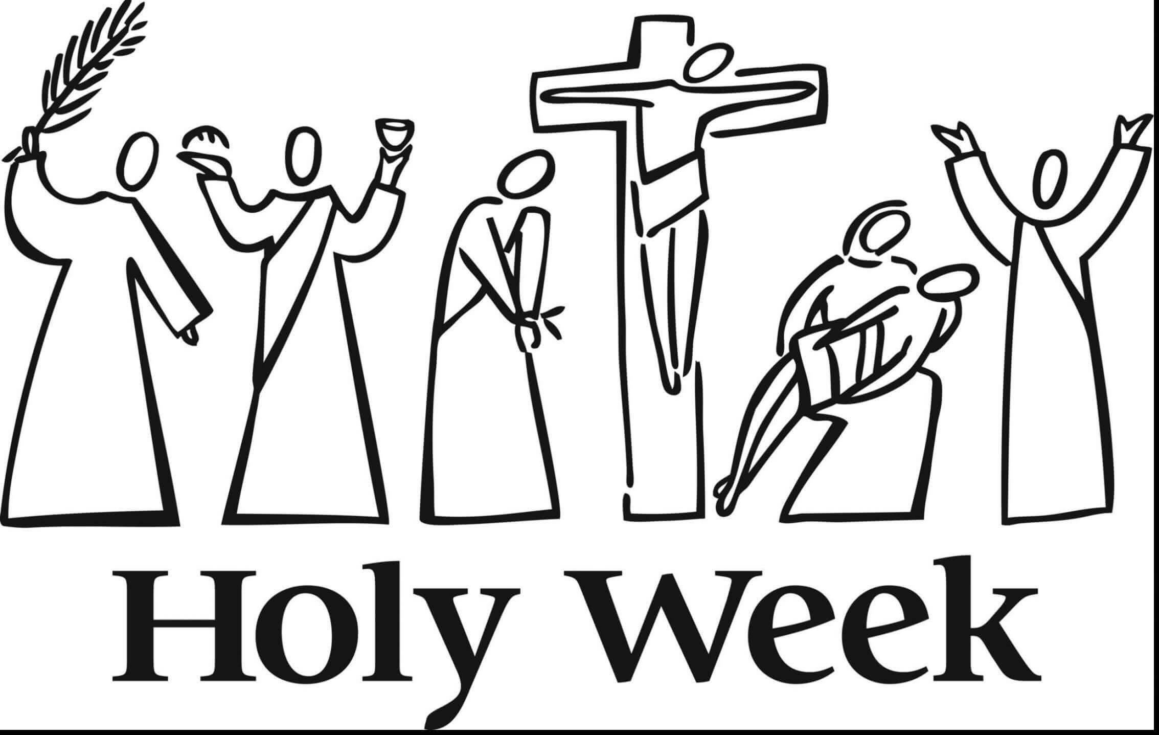 Holy Week Lent Coloring Pages