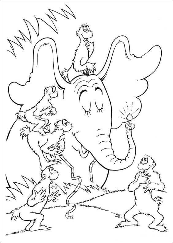 dr seuss coloring pages | 25 Free Printable Dr. Seuss Coloring Pages