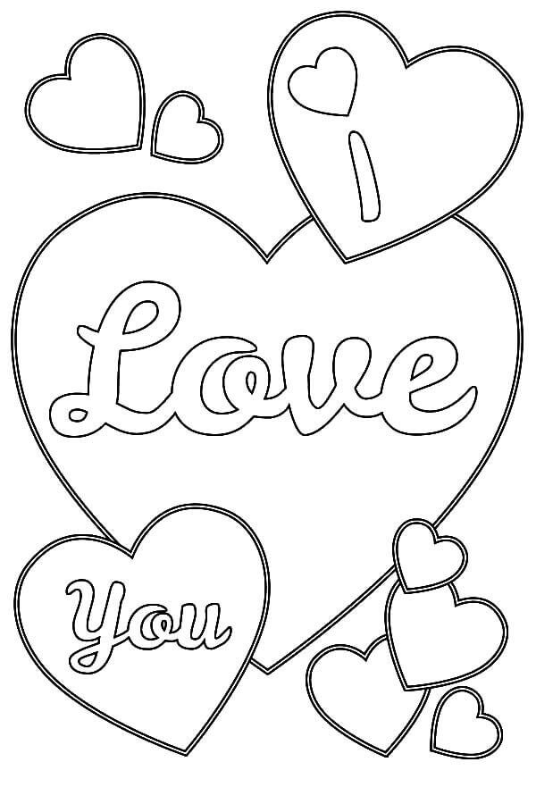 heart love coloring pages - photo#7