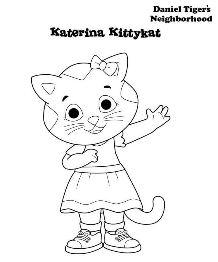 Katerina Kitty From Daniel Tiger Coloring Page