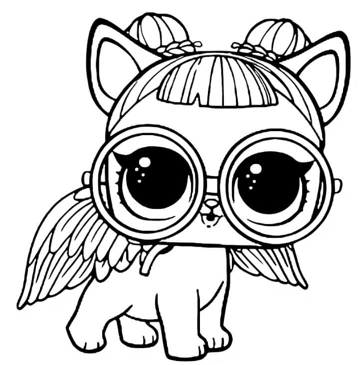 LOL Pets Coloring Pages Free Sugar Pup