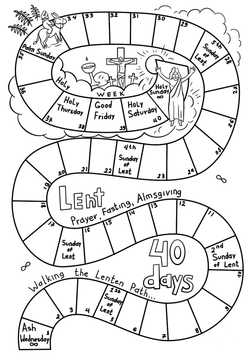 Lent 40 Days Coloring Page
